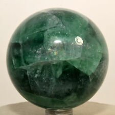 "2.3"" Rainbow Green Fluorite Sphere Natural Sparkling Crystal Stone Ball - China"