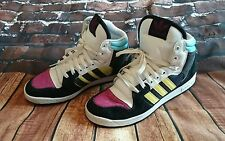 Adidas Originals Decade Hi W Pink Black White Yellow RETRO style  Size 7 skate