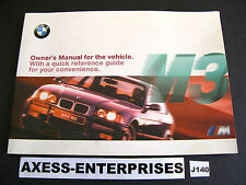 1997 1998 BMW 3-Series E36 M M3 Coupe Sedan Owners Manual Drivers Book # J140