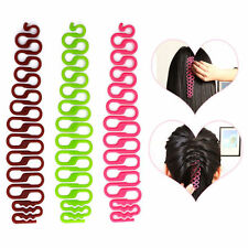 New 2X Women's Fishbone Hair Styling Salon Clip Stick Bun Maker Braid Hair Tool