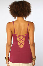 NEW Free People XS S Cage Cami Bra Bralette SHIRT TOP $38 Retail Mulberry