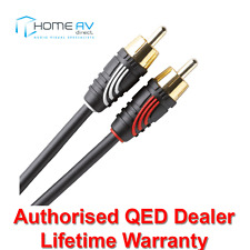 QED Profile Audio Phono to Phono Stereo RCA Interconnect Cable Lead 3m - QE2705