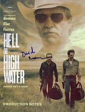 """DAVID MACKENZIE Authentic Hand-Signed """"Hell Or High Water"""" Production notes"""