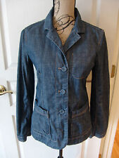 DKNY Pure Jean Jacket Size 6 Covered Buttons Blazer Cotton