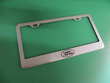 "(1pc)"" LAND ROVER LOGO "" Stainless Steel license plate frame"