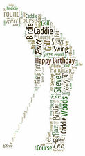 Personalised Golfer Word Art Print - Birthday Gift or Any Occasion