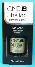 CND SHELLAC TOP COAT ~ UV LED Gel Color Coat Power Polish ~ .25 oz / 7.3 mL NIB