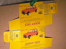 REFABRICATION BOITE RENAULT 4L  DINKY TOYS 1963