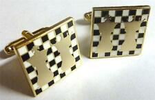 Chess King Queen Board Knight Game Club Classic Suit Tuxedo Cufflinks Cuff Links