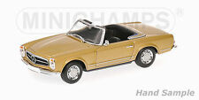 Minichamps 1968 MERCEDES 230 SL CABRIOLET W113 BEIGE METALLIC*Back in Stock*Nice