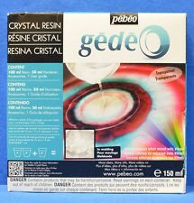 Pebeo Gedeo Crystal Resin Transparent Infinite Shades When Mixed With Vitrail150