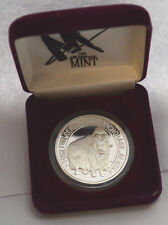 "1992 1 OZ SILVER  FUR RENDEZVOUS ""ANCHORAGE, ALASKA""  IN BOX. THE SEAL OF STATE"