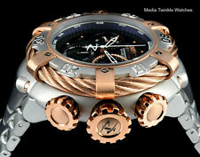 New Invicta 56MM Reserve THUNDERBOLT BLACK MOP Dial w/5MM Rose Gold Bezel Watcho