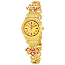 Swatch Irony Gold Dial Gold-tone Ladies Watch YSG140G
