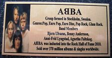 ABBA Photo Gold Sublimated Plaque