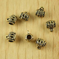 30pcs dark gold-tone flower cup charms h2075