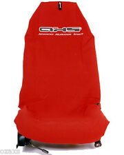 Pair Sexy Hot Red AXS Pull On Throw Over Car Seat Covers Seat Protectors Oz Made