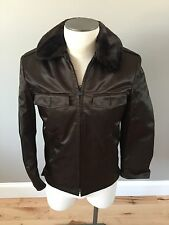 NWOT BLAUER POLICE EMS DUTY JACKET ZIP OUT LINER LINED FAUX FUR COLLAR 34S Brown