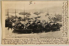 24675 PC Postcard HONG KONG Sampans in the harbour ships 1902 AK Schiffe Hafen