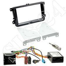 2-DIN Radioblende piano black Can-Bus Interface Antenne VW Amarok Caddy Passat