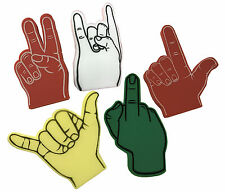 Foam Hands a Variety of 5 Five Different Styles