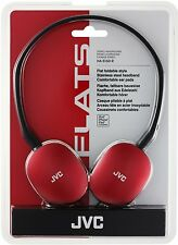 JVC Flats Foldable Style Headphones RED HA-S160-R-EF BRAND NEW FREE UK