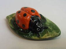NEW WADE WHIMSIE LE 50 RED LADY BIRD BUG ON LEAF