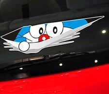 Cartoon Doraemon CAT Decal Vinyl Car Pad Wall Bumper Sticker Color Peeping snoop