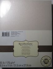 "Recollections Cardstock Paper 8 1/2"" X 11"" 100 Sheets Shimmer Silver & Champagne"