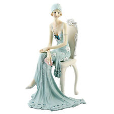 Juliana Art Deco Broadway Belles Teal Blue Lady Figurine / Ornament.New.58379