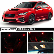 10x Red Interior LED Light Package Kit 2015-2016 Subaru WRX STI + TOOL