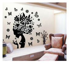 Flower Elf Vinyl Wall Sticker Removable Decal Home Decor DIY Art Mural Stickers