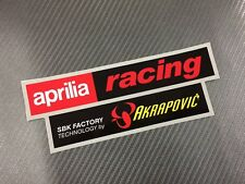 1 Adesivo Sticker AKRAPOVIC APRILIA Factory Alte Temperature High Temperatures