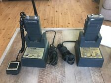 Lot 2 Motorola Ht220 Vhf Vintage Radio With Trickle Slimline Chargers COOL!!