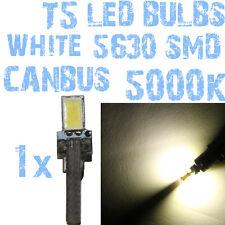 N° 1 Gloeilamp LED T5 Wit 5000K SMD 5630 Koplampen Angel Eyes DEPO FK 12v 1A6 1A