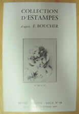 CATALOGUE VENTE DROUOT COLLECTION D ESTAMPES D APRES F BOUCHER 12 FEVRIER 1969