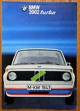 Rar! BMW 2002 turbo 1973-74 E20 M Prospekt brochure depliant no Foto photo