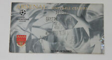 old TICKET CL Arsenal London England - Bayern Munchen Germany