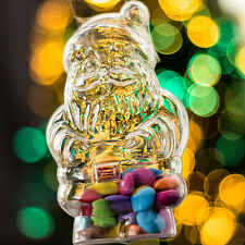 x 20 Papá Noel Transparente Esfera Rellenable Decoración De Navidad (120mm Alto)