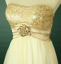 Windsor $85 Ivory Evening Prom Formal Cruise Short Cocktail Dress size 7 Night