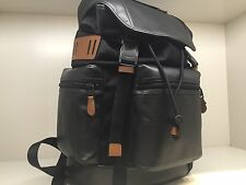 COACH F72018 Trek Pack Rucksack Backpack Men's Perforated Leather Black NWT