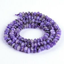 """0333 5mm A grade Charoite rondelle loose gemstone beads 16"""""""