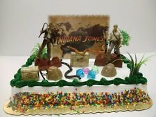 Indiana Jones Birthday Cake Topper Set Featuring Indiana Jones and Themed Pieces
