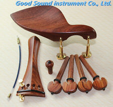 1 set high quality rosewood violin fittings 4/4, violin parts accessories