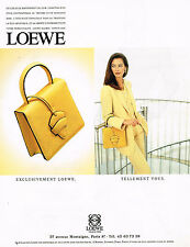 PUBLICITE ADVERTISING 074  1994  LOEWE   collection maroquinerie sacs