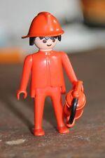 Personnage PLAYMOBIL - HOMME Pompier soldat du feu extincteur 18 incendie casque