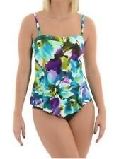 New with Tag - $150.00 Miraclesuit Black Tropical Asymmetric Tankini Size 14