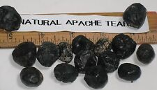"""Natural unpolished Apache Tears translucent Obsidian 1/2""""-3/4"""", 3 stones / price"""