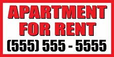 4'x8' APARTMENT FOR RENT CUSTOM NUMBER Sign Vinyl Banner house condo home studio