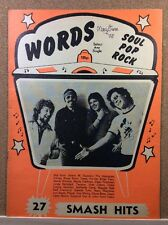 WORDS - Songwords Music Magazine - 27 smash hits - 1978 - SQUEEZE, STRANGLERS